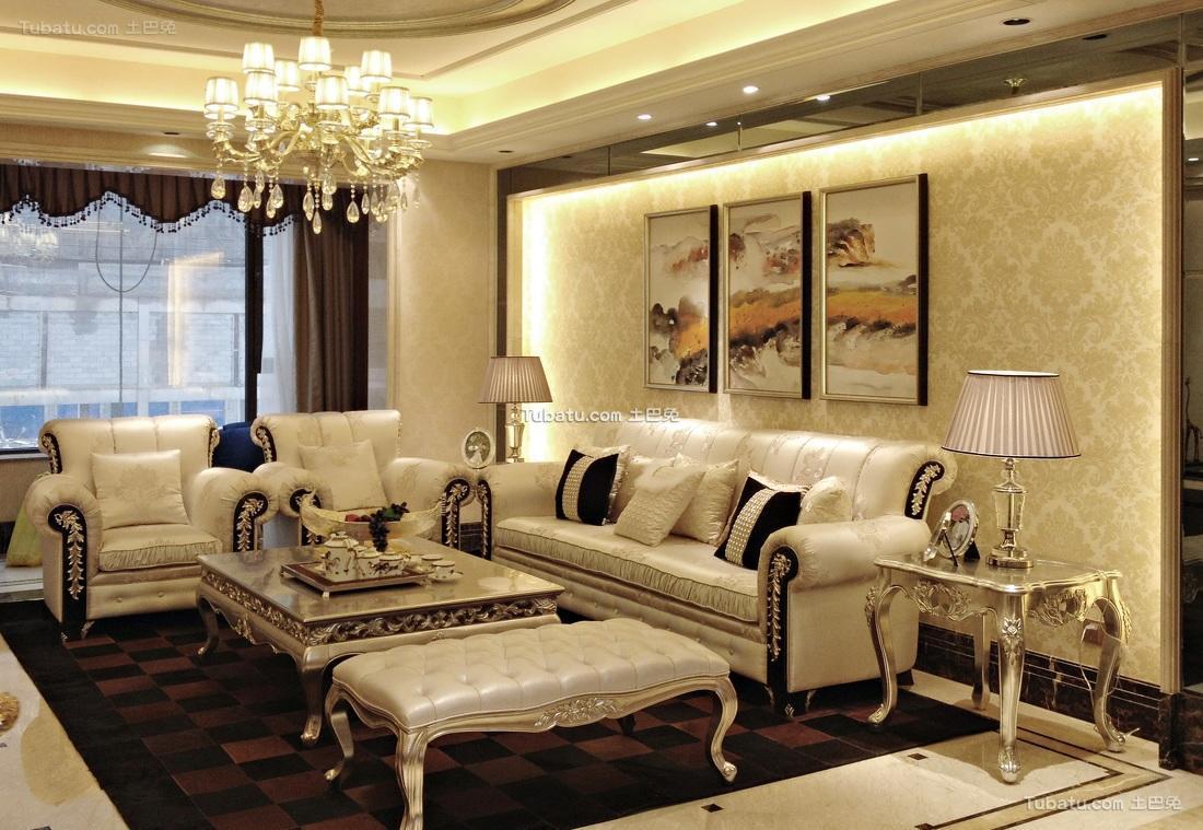 欧式古典奢华三居装潢案例