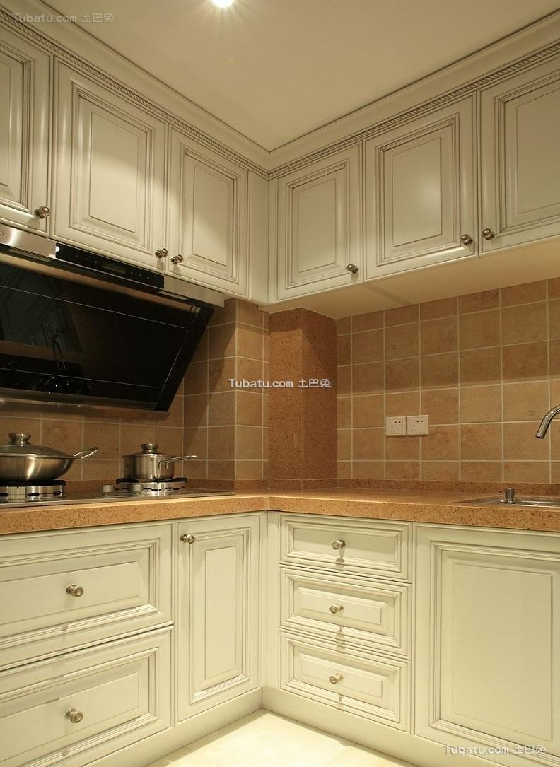 时尚美式风格厨房设计装修效果图