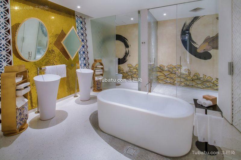 东南亚现代风格别墅卫生间设计效果图