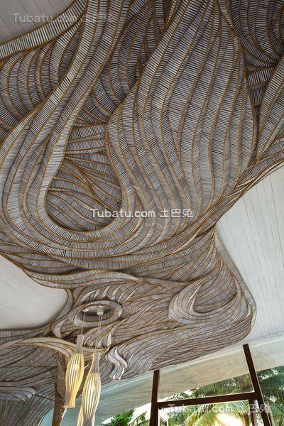 东南亚现代风格别墅吊顶设计效果图