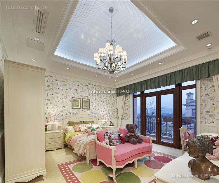 美式儿童房家装设计效果图片