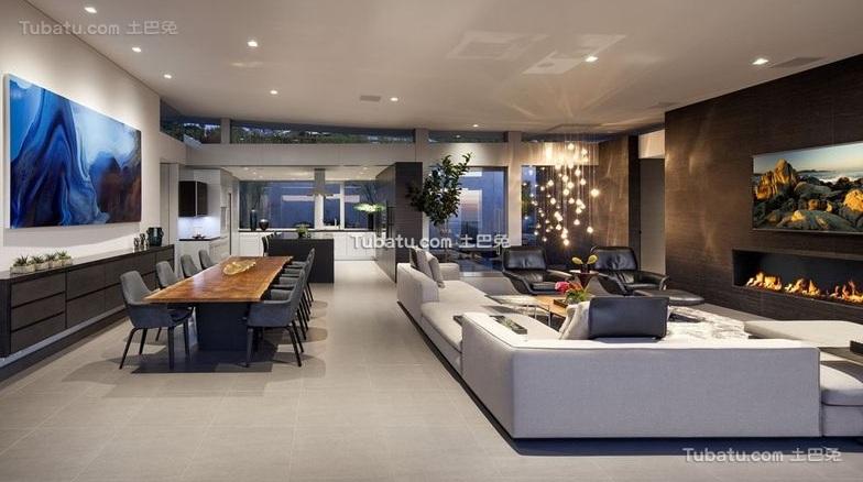 现代设计公寓装修效果图片