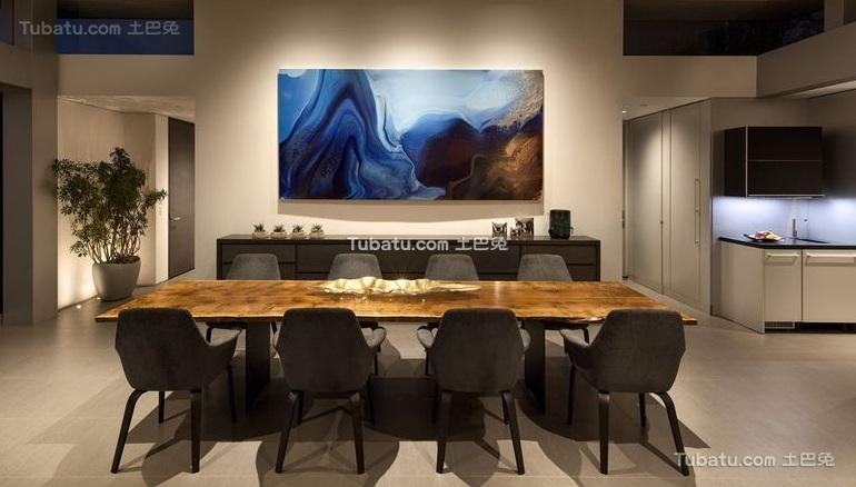 现代设计公寓餐厅装修效果图片