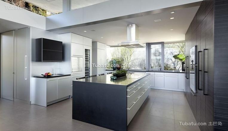 现代设计公寓厨房装修效果图片