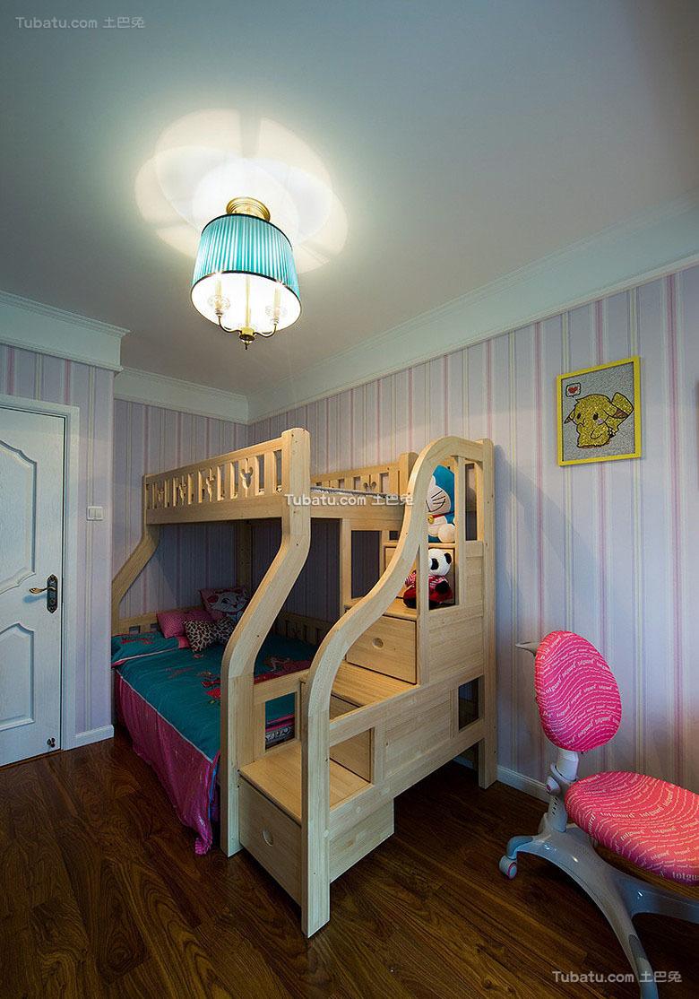 美式风格设计儿童房装修效果图片