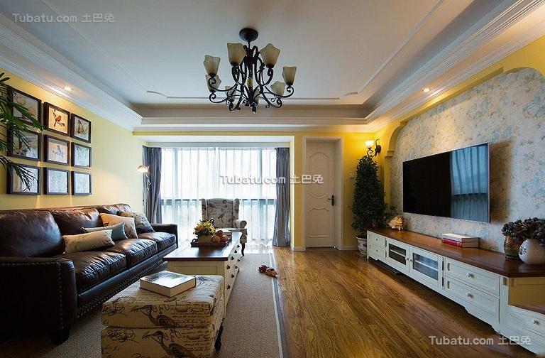 美式风格设计三居装修效果图片