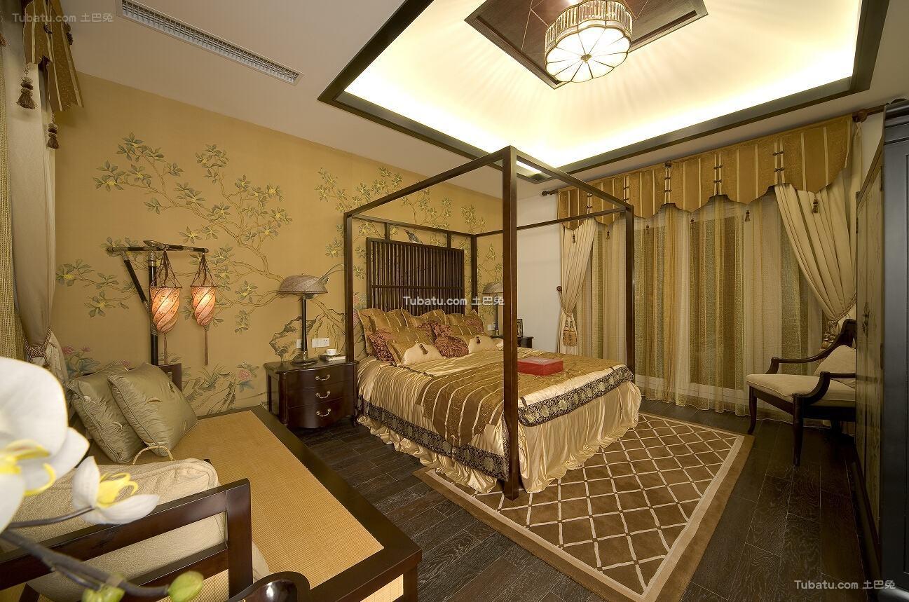 中式卧室布置欣赏