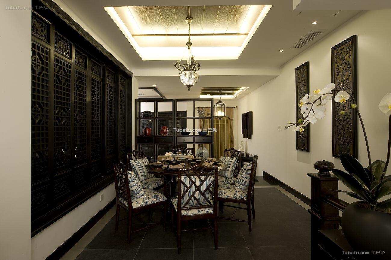 中式古典餐厅家居效果图