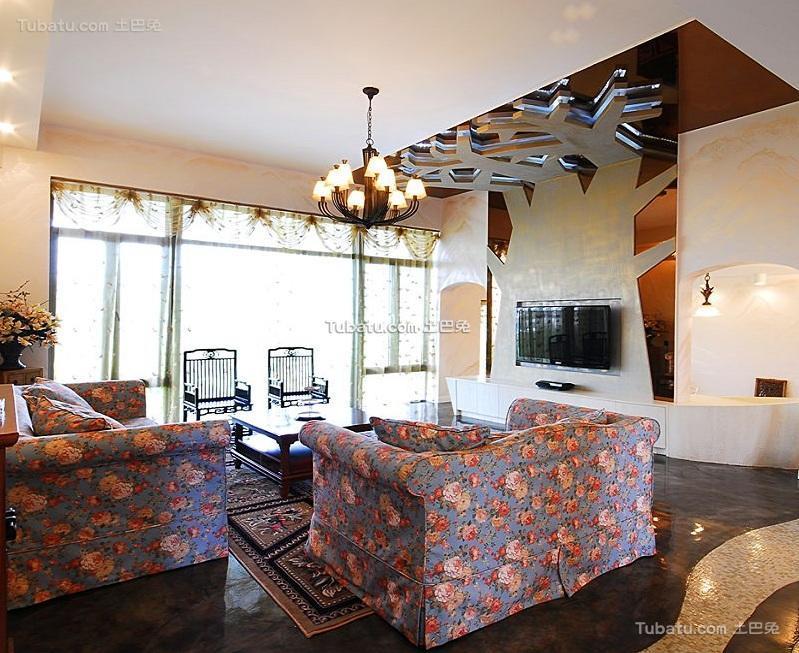 简欧风格设计两居室装修效果图片