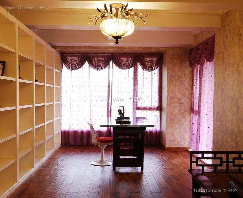 简欧风格设计书房装修效果图片
