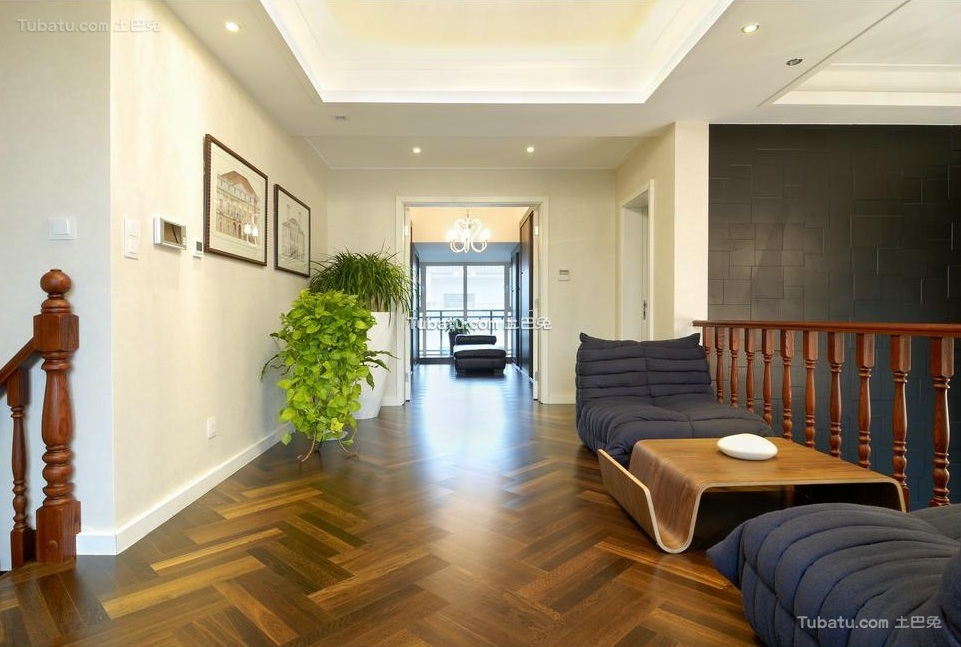 后现代设计风格室内休闲区效果图