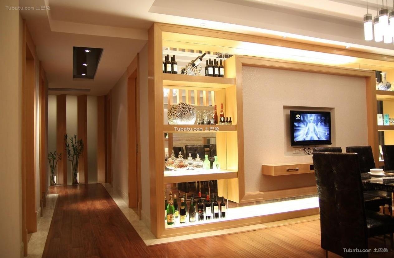 现代简约设计室内酒柜装饰效果图片