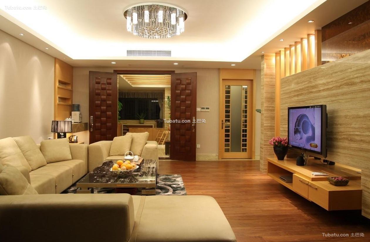 现代简约设计四居室装饰效果图片