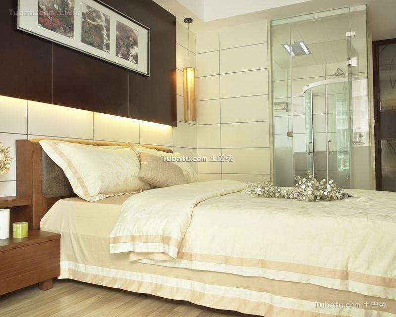 现代中式设计卧室装修效果图片