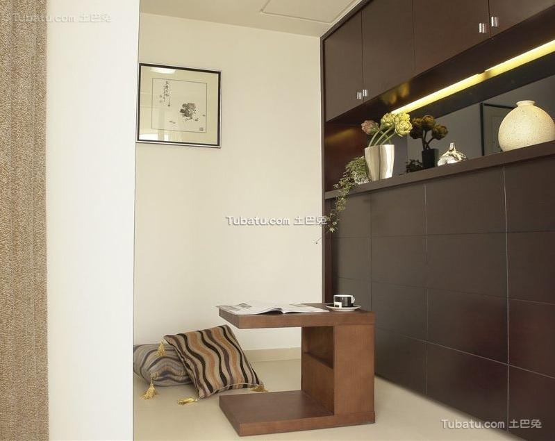 现代中式设计室内榻榻米装修效果图片