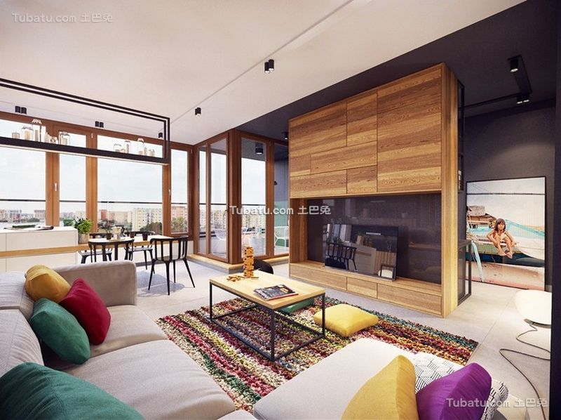 北欧风格设计公寓装修效果图片