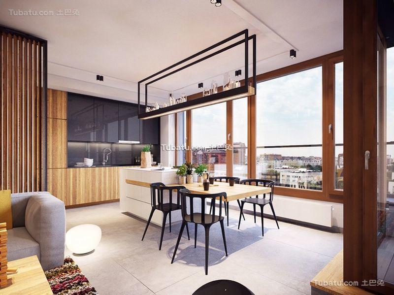 北欧风格设计公寓餐厅装修效果图片