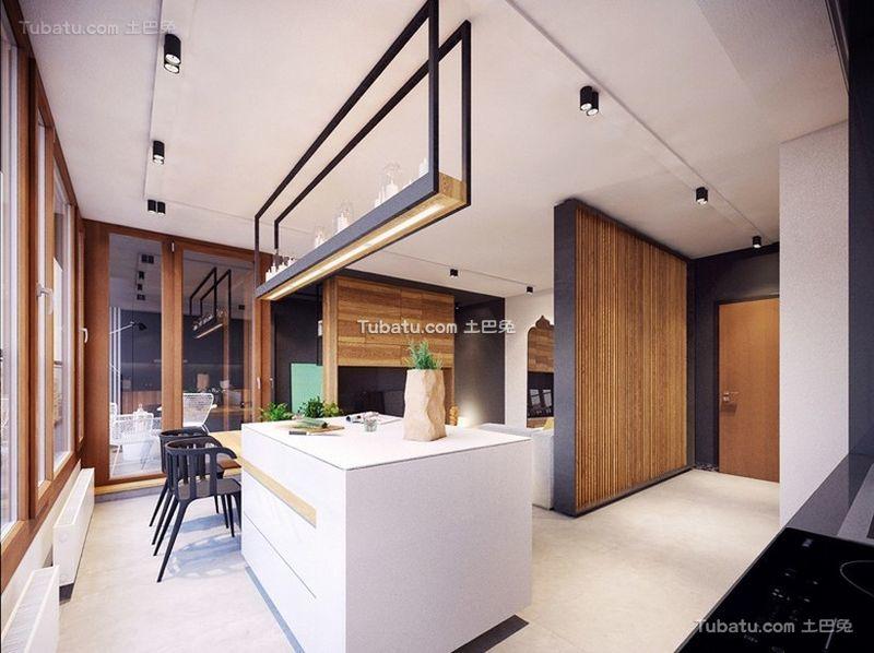 北欧风格设计吧台装修效果图片