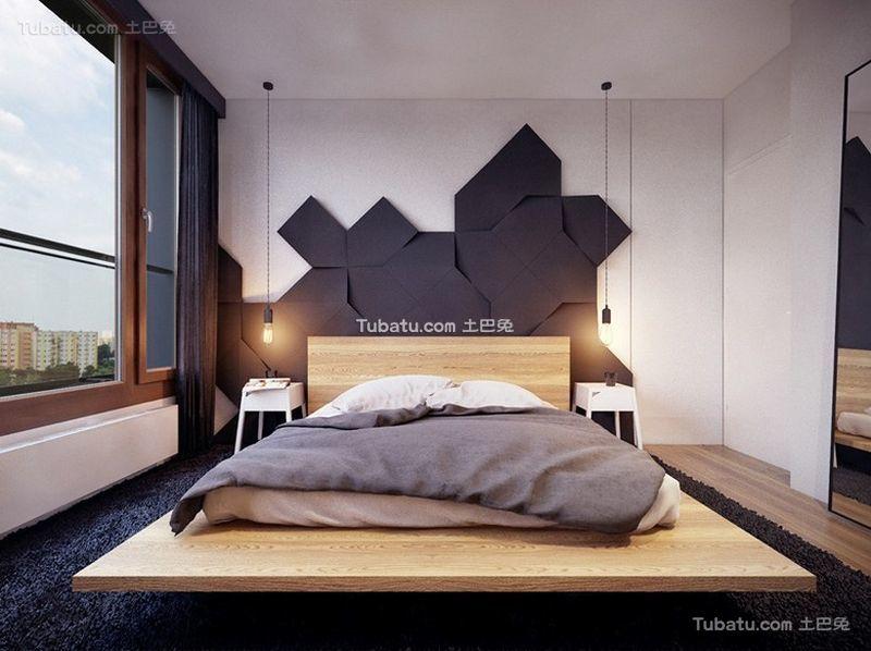 北欧风格设计公寓卧室装修效果图片