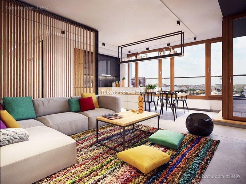 北欧风格设计公寓客厅装修效果图片