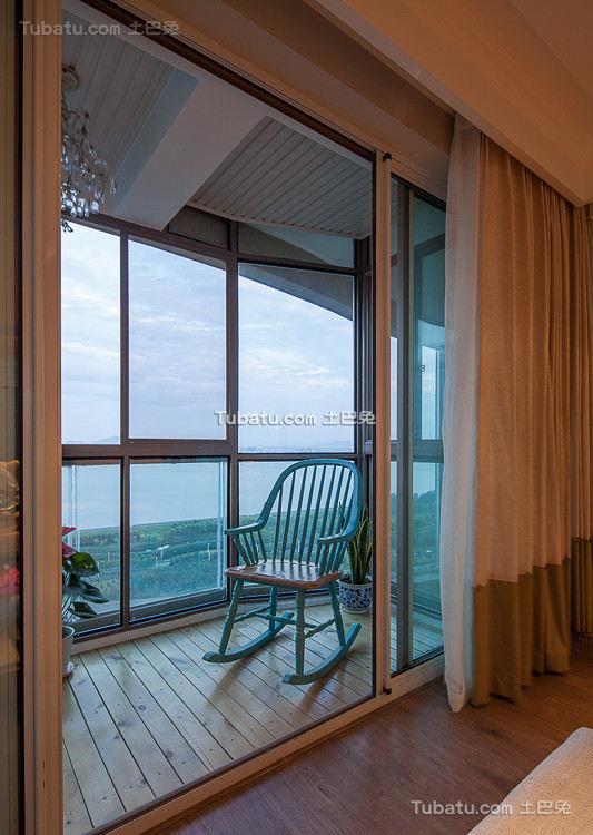 悠闲美式封闭景观阳台设计