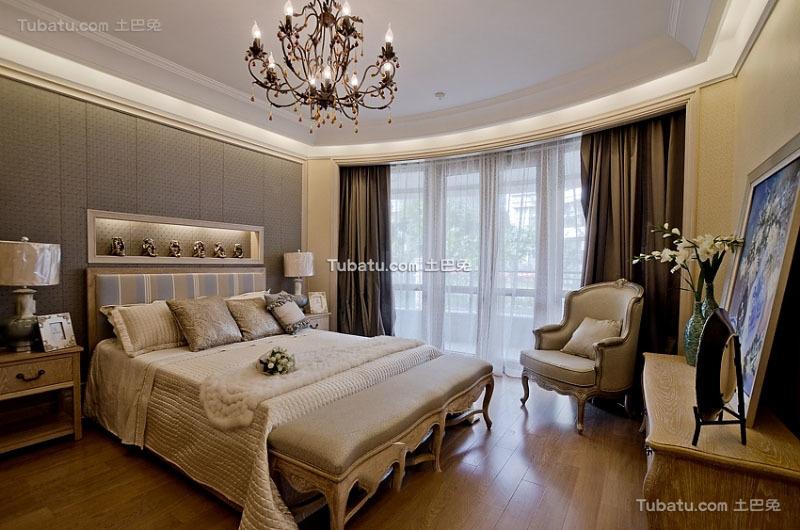 美式风格设计室内卧室装修效果图