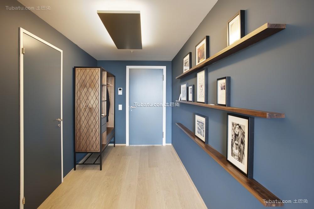 蓝色现代玄关装潢大全