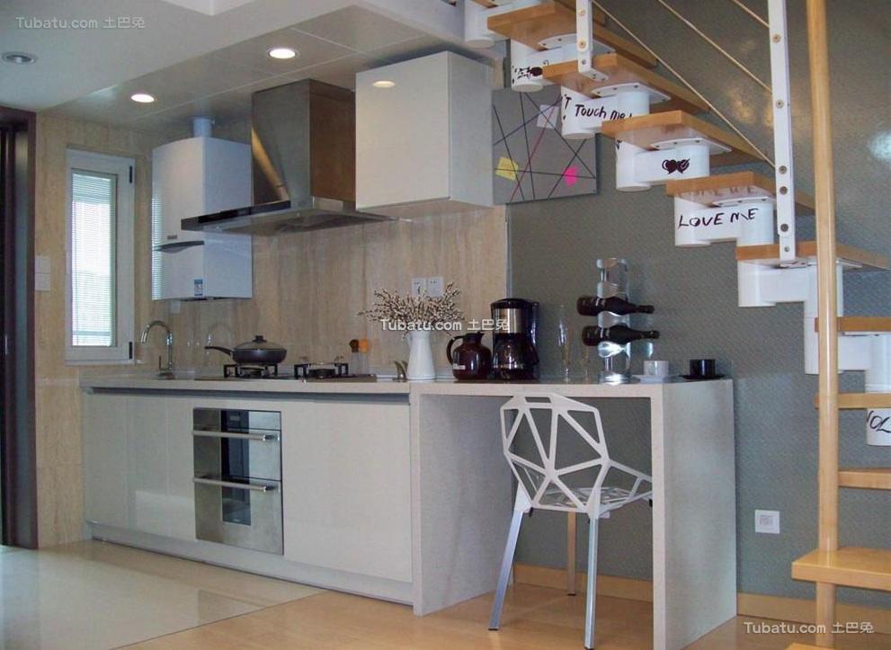 现代复式设计厨房装修图片