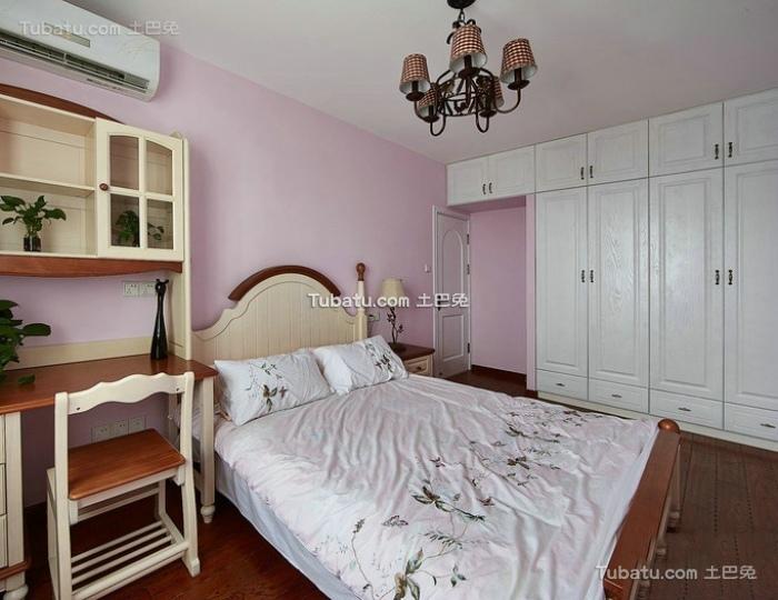 美式家居卧室室内设计装修效果图