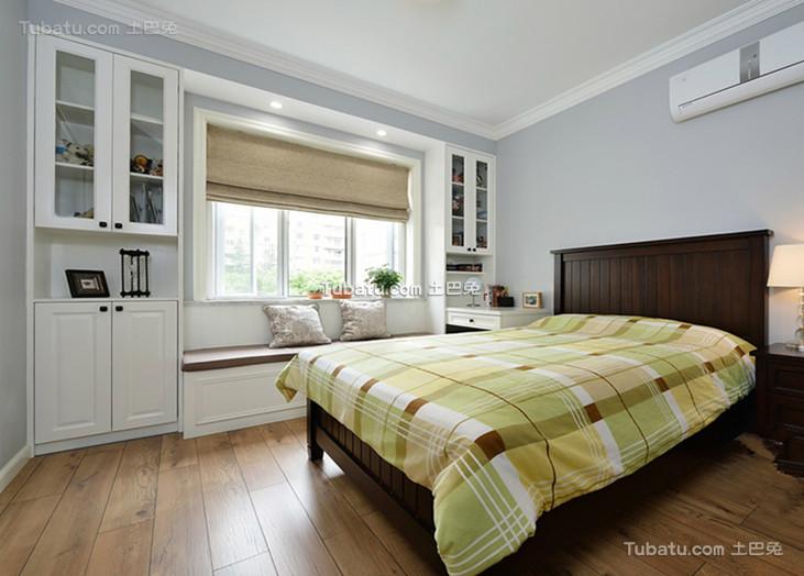 现代美式卧室装潢布置