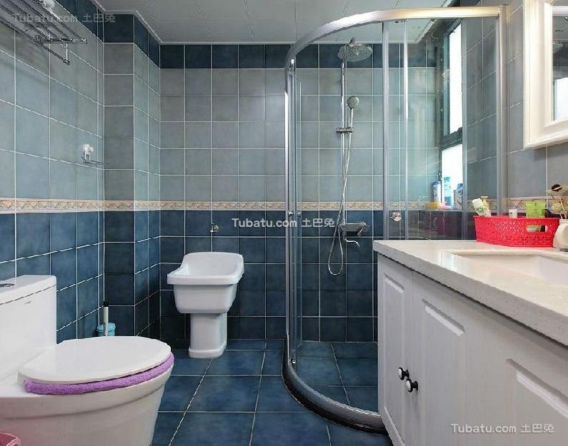 美式风格设计卫生间装修效果图片