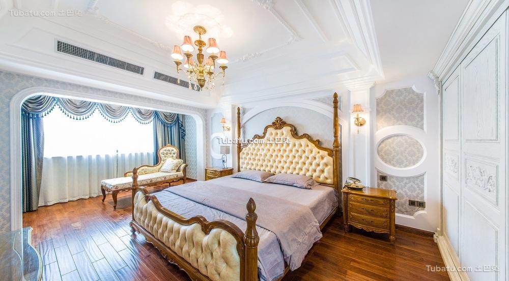 豪华古典欧式主卧室装潢