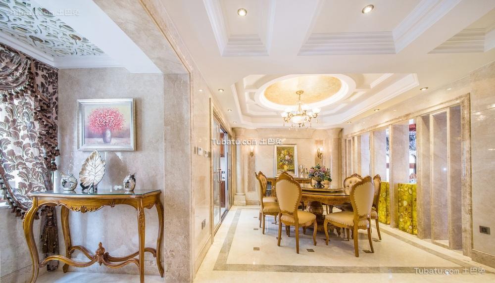 豪华欧式古典餐厅设计