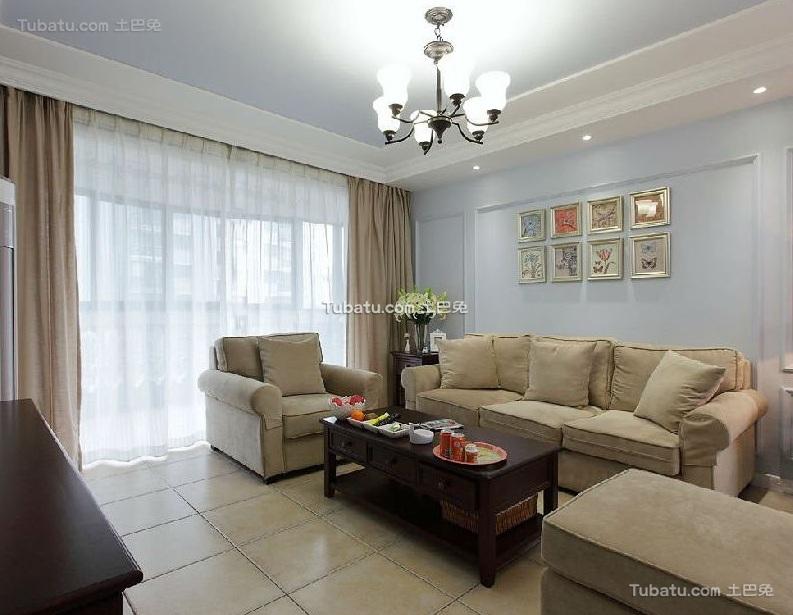 美式风格设计客厅室内装修效果图片