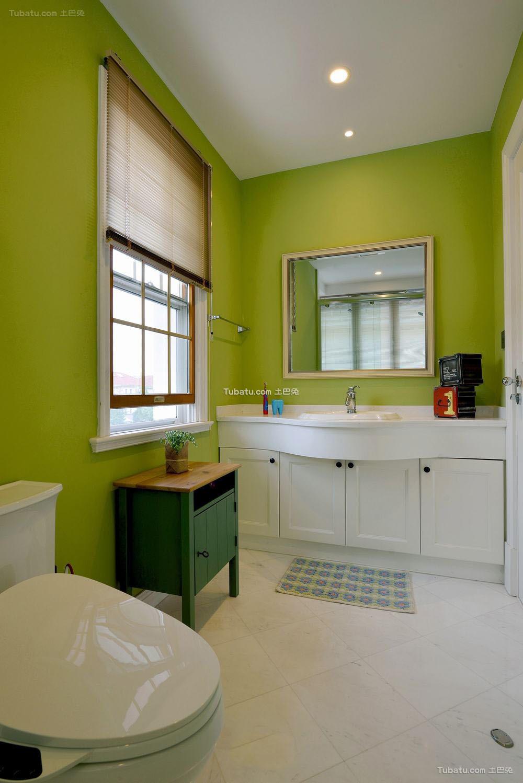 美式时尚复古设计卫生间装修效果图