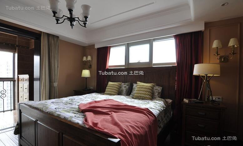 美式卧室装潢效果图