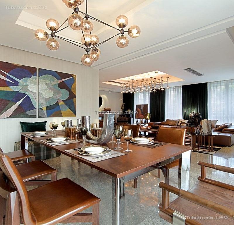 清新现代设计公寓餐厅装修效果图