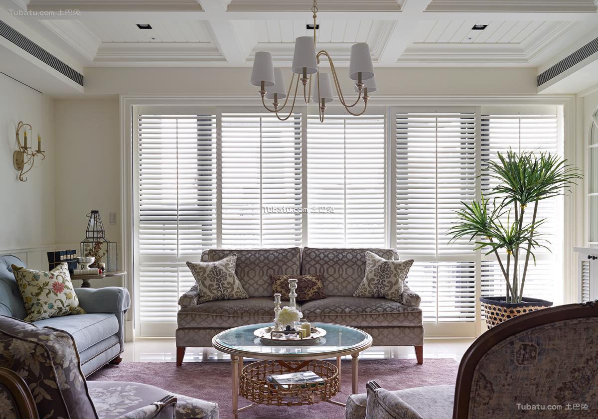 美式古典风格三居室装修图片