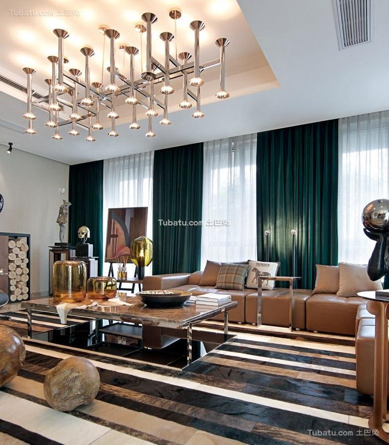 清新现代设计公寓室内装修效果图