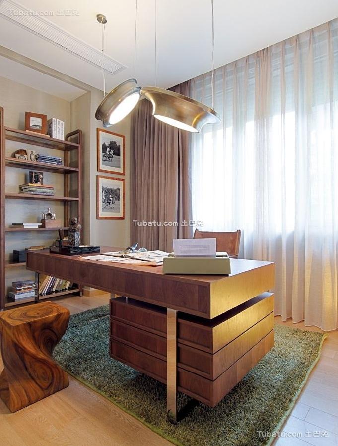 清新现代设计公寓书房装修效果图