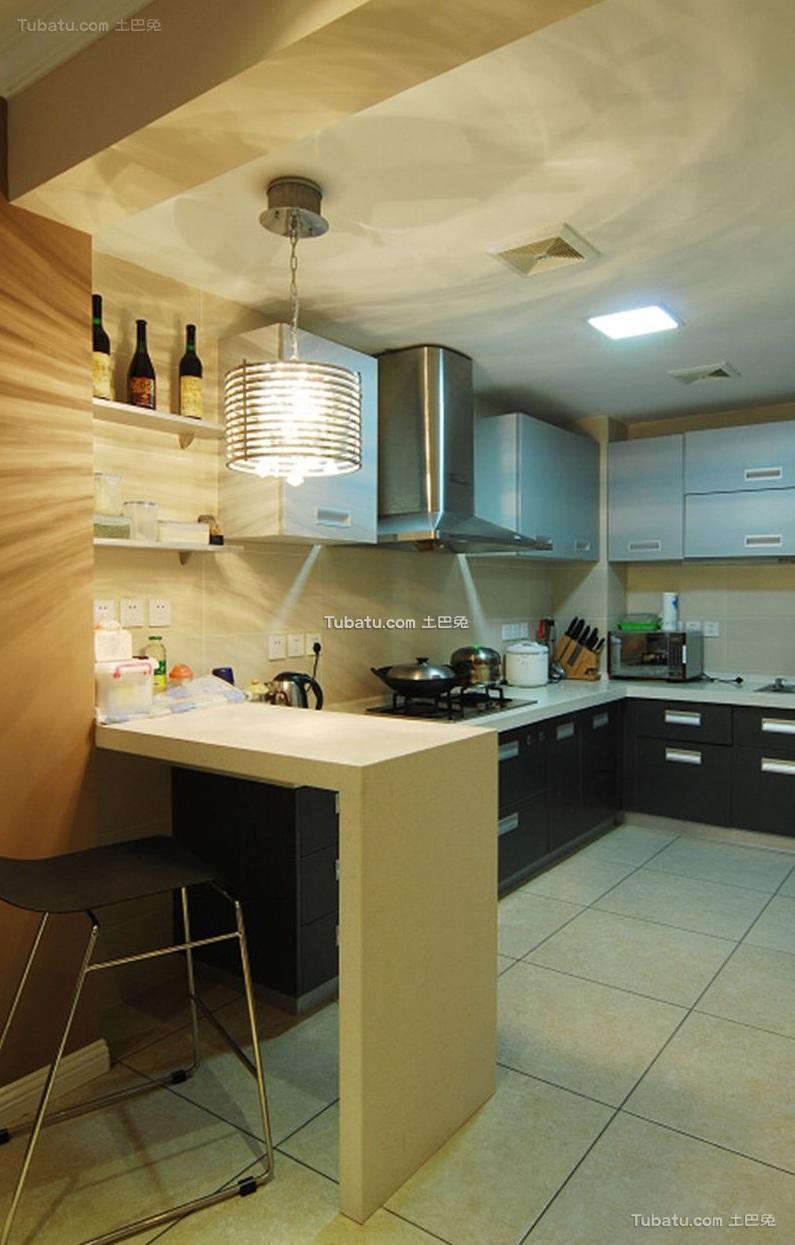 时尚简约设计厨房装修效果图片