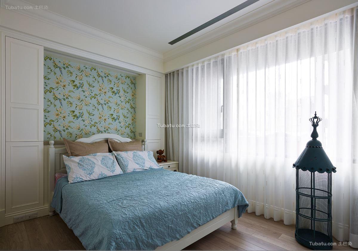 美式简约设计卧室装修图片欣赏