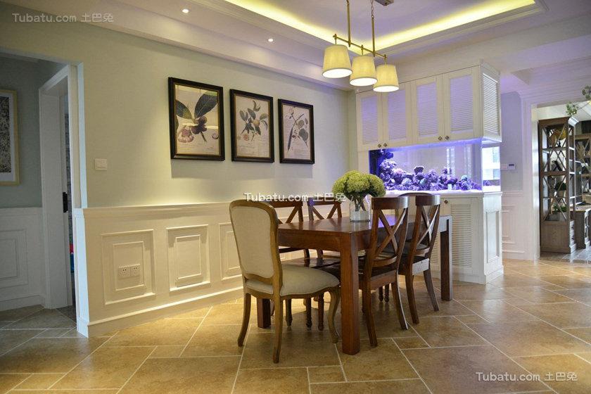 145方美式三居装潢装饰