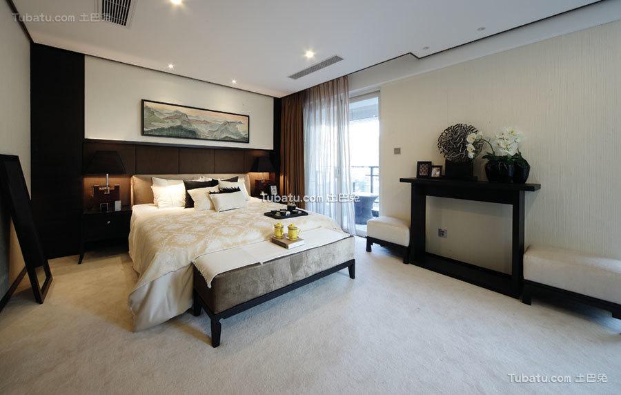 沉稳儒雅简中式卧室布置