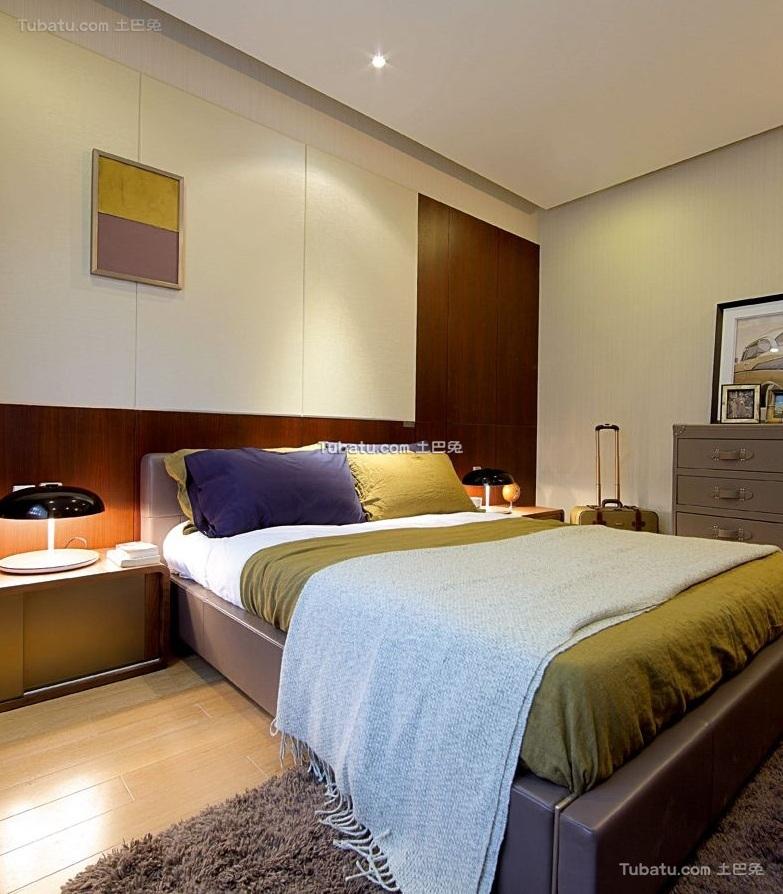 清新现代设计公寓卧室效果图
