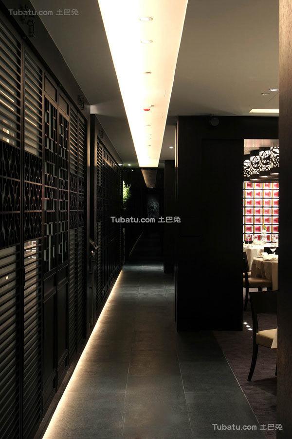 中式古典酒店设计过道装修效果图片欣赏