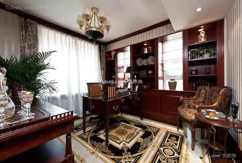 欧式古典豪华书房装修