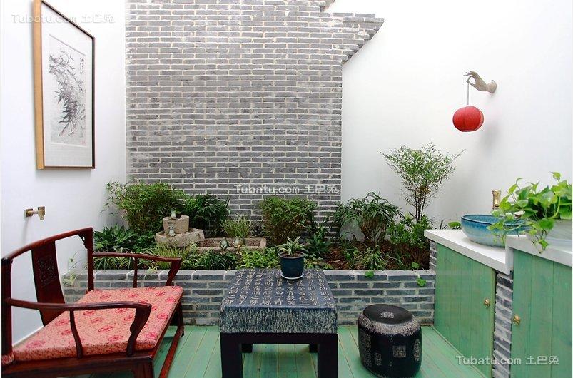中式清新儒雅小花园设计