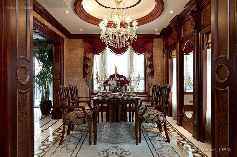 欧式古典豪华餐厅设计