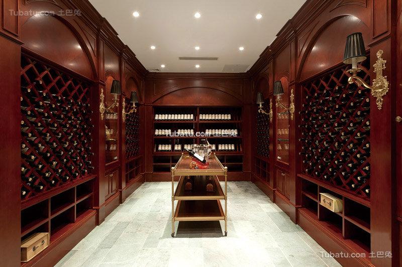 欧式古典整体实木酒柜